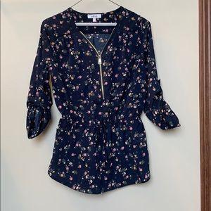 Stella tweed blouse